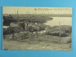 Ruines De Nieuport 1914-18 Abri Et Bois Près Du Chenal - Nieuwpoort