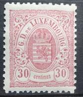 Luxemburg 1880    Nr. 44 B   Tand.  12 1/2 / 12     Scharnier *   Zie Foto - 1859-1880 Armoiries