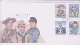 SCOUTS -  GIBRALTAR -  2007 -  EUROPA / SCOUTS SET OF 4 ON ILLUSTRATED FDC - Scouting