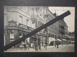 76 - Le Havre - CPA - La Rue Thiers - Commerces Delanoë & Groulier - A.B - Belle Animation - B.E - - Le Havre