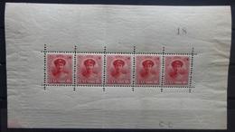 Luxemburg 1921     Nr. 121   Blaadje Van  Zegels    Spoor Van Scharnier *   Zie Foto   CW 225,00 - 1914-24 Marie-Adélaïde
