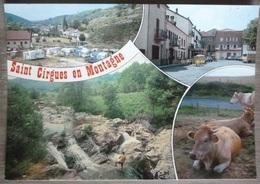 SAINT CIRGUES EN MONTAGNE (07). MULTIVUES. ANNEES 1970-80.TBE. - Andere Gemeenten