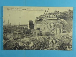 Ruines De Nieuport 1914-18 Positions Belges à Lombardzyde - Nieuwpoort