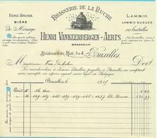 BRASSERIE DE LA RUCHE / HENRI VANKEERBERGEN-AERTS / BRUXELLES 1919  (F357) - Belgique
