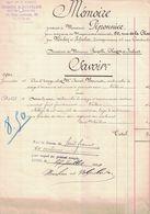 1910 ANCIENNE MAISON P. DUMONT NOUHEN & VOLPELIER ENTREPRENEURS 43 RUE CENTRALE LYON A PIPONNIER 50 RUE DE LA CHARITE - France