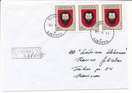 Registered Commercial Cover / Trakai Coat Of Arms Beard - 14 October 1998 Kaunas 23 - Lithuania