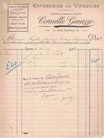 1910 ENTREPRISE DE VITRERIES ANCIENNE MAISON DIANI CORNEILLE GENAZZI 5 RUE CONFORT LYON A FAYOLLE CHAZOT & IMBERT - France