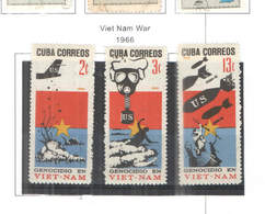 Cuba PO 1966 Guerra Viet Nam Scott.1163/1165+See Scan On Scott.Album; - Cuba