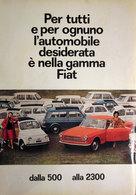 FIAT DALLA 500 ALLA 2300   PUBBLICITA' ORIGINALE PICTURE OF VINTAGE PAPER 1960 - Pubblicitari