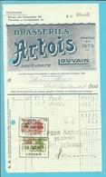 BRASSERIE ARTOIS LOUVAIN (LEUVEN) 1931  (F354) - Belgique
