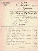 1910 ANCIENNE MAISONS RIEUBLANC & BELLAT FRANCOIS EMIEL ENTREPRENEURS 20 RUE BOSSUET LYON A PIPONNIER FAYOLLE CHAZOT - France