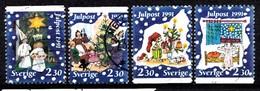 Suède 1991 Mi.Nr.: 1692-1695 Weihnachten  Oblitérés / Used / Gestempeld - Suède