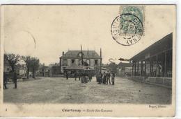 """1 Cpa Courtenay - école Des Garçons """"manège"""" - Courtenay"""