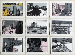 RARE Série Complete De 9 Cp De JACQUES TARDI Pour Festval Roman Et Film Noirs GRENOBLE 1987 - Bandes Dessinées