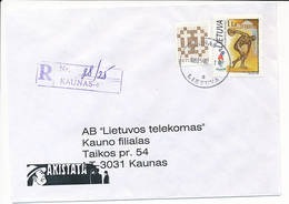 Registered Commercial Cover / Summer Olympics Atlanta - 10 February 1998 Kaunas 40 - Lithuania