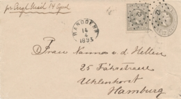 Nederlands Indië - 1893 - 12,5 Cent Willem III Op Envelop G7 Van Rond- En Puntstempel Bandoeng Naar Hamburg - Indes Néerlandaises