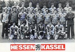 ESSEN     KASSEL        Germany     1981 / 82      AUTOGRAFI - Calcio