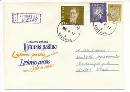 Registered Commercial Cover / Art Painter Antanas Žmuidzinavičius - 12 December 1996 Kaunas 42 - Lithuania