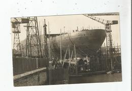 LE PRESIDENT  DOUMER CARTE PHOTO SUR CALE LANCE EN JANVIER 1933 TORPILLE EN 1942 - Dampfer