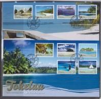 Tokelau 2012 Scenic Definitives On 2 FDCs - Tokelau