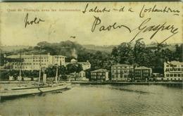 TURKEY - CONSTANTINOPLE - QUAI DE THERAPIA AVEC LES AMBASSADES - 1909 (BG1938) - Turquie