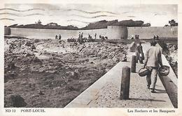 PORT-LOUIS- ( 56 ) - Les Rochers Et Les Remparts - Port Louis