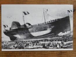 """CPM (44) Loire Atlantique - """"Impératrice Eugénie"""" 1864 - 1er Paquebot Construit à Saint-Nazaire - Voilure Et Machine à V - Piroscafi"""
