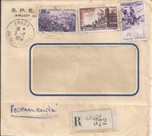 64 - PYRENEES ATLANTIQUES - ARUDY  - 1957 - TàD De Type  A7 - Marcophilie (Lettres)