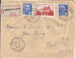 64 - PYRENEES ATLANTIQUES - CAMBO LES BAINS - 1952 - TàD De Type  A7 - Cachets Manuels