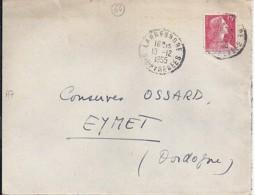 64 - PYRENEES ATLANTIQUES - LARRESSORE - 1955 - TàD DE TYPE A7 - Marcophilie (Lettres)