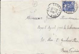 64 - PYRENEES ATLANTIQUES - NAY - 1952 - TàD De Type A7 - Marcophilie (Lettres)