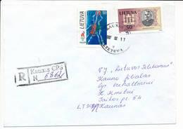Registered Commercial Cover / Basketball Summer Olympics Atlanta - 17 February 1997 Kaunas CPS - Lithuania