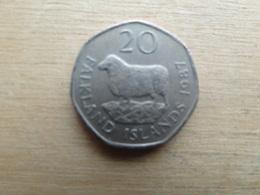 Falkland  20  Pence  1987  Km 17 - Falkland