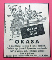 OKASA   PUBBLICITA' ORIGINALE PICTURE OF VINTAGE PAPER 1960 - Pubblicitari