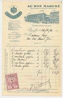 Factuur / Brief  Bruxelles / Brussel 1921 - Au Bon Marche - België