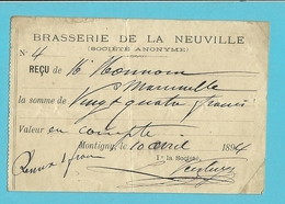 BRASSERIE DE LA NEUVILLE 1894 / MONTIGNY (918) - 1800 – 1899
