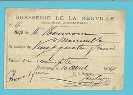 BRASSERIE DE LA NEUVILLE 1894 / MONTIGNY (918) - Belgique