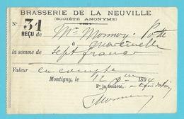 BRASSERIE DE LA NEUVILLE 1894 / MONTIGNY (1272) - Belgique