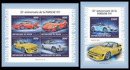 NIGER 2018 - Porsche 911, M/S + S/S. Official Issue - Niger (1960-...)