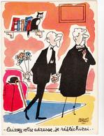 FAIZANT  Jacques  Ed Yvon  N°72  - Humour  Les Vieilles Dames  Bouquet Fleurs -   CPSM  10,5x15 BE 1965 Neuve - Faizant