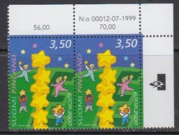 Europa Cept 2000 Finland 1v (pair, Corner)   ** Mnh (41679C) - Europa-CEPT