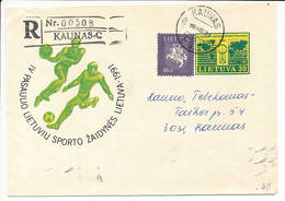 Mi U 14 Registered Commercial Uprated Stationery Cover - 20 June 1994 Kaunas PSS - Lithuania