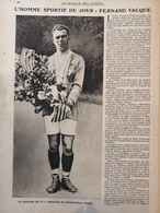 1921 RUGBY - L'HOMME SPORTIF DU JOUR - FERNAND VACQUE - L'U. S. PERPIGNAN - Books, Magazines, Comics