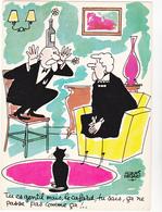 FAIZANT  Jacques  Ed Yvon  N°38  - Humour  Les Vieilles Dames  Clown -   CPSM  10,5x15 BE 1964 Neuve - Faizant
