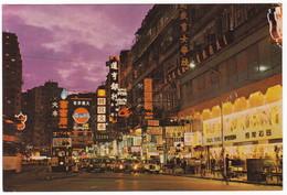 HONG KONG - HENNESY ROAD - POST CARD - Spedita 31 MARZO 1975 - Cina (Hong Kong)