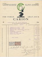 Factuur Bruxelles / Brussel 1924 - Carion - Fer Forgé - Wrougt Iron - Pelican - Candle - Belgium