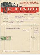 Factuur Bruxelles / Brussel 1930 - R. Liard - Le Bon Charbon - Mining - Miner - Coal - België