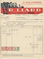 Factuur Bruxelles / Brussel 1931 - R. Liard - Le Bon Charbon - Mining - Miner - Coal - 1900 – 1949