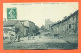 """CPA 51 Environs De Saint Menehould - Florent """" Place De La Grande Gloie """" - France"""
