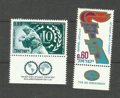 Israël N°377, 378 Neufs** Cote 3.55 Euros - Israel
